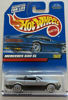 1999 Hotwheels Mercedes 500 SL Silver Vintage Mint! MOC! Very Rare!