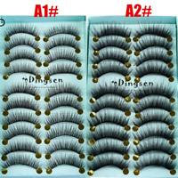 10Pairs Natural False Fake Eyelashes Thick Long 3D Mink Eye Lashes Extension