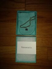 """TIFFANY&CO RETURN TO TIFFANY AUTHENTIC 925 STERLING SILVER 4mm BEAD BRACELET 6"""""""
