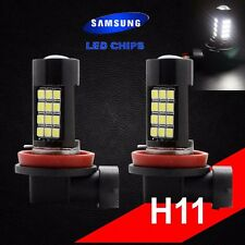 H11 Samsung Chip LED 42 SMD Super White 6000K Headlight 2 x Light Bulb Low Beam