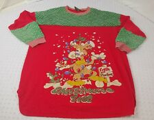 Ugly Christmas Sweater Holiday Ducorations Size XXL Starlit Nights