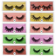 New listing Wholesale Eyelashes 100 Pairs 3D Mink False Lashes Natural Bulk Mix Us