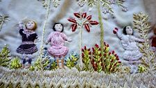 FANTASTIC Child Vest w Six 3D DOLLS EMBROIDERY , Stumpwork