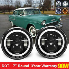 2X 7'' Round LED Headlights for 1953-1957 Chevrolet Bel Air/150/210 Impala Ford