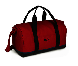 MINI GENUINE TRICOLOUR BLOCK DUFFLE BAG - BLACK / CHILI RED