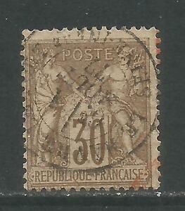 France 1876-78 Peace & Commerce 30c brown on yellowish (73) used