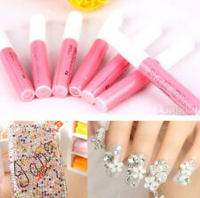 Beauty Professional Acrylic Glue Decorate Tips Pink Nail False Art ~3pcs~
