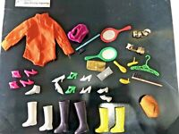 Vintage Barbie Doll Mixed Accessories Lot, Boots, Shoes, Purses, Mirrors, Hanger