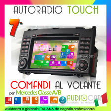 "AUTORADIO 7"" Navigatore Mercedes Classe A/B GPS Touch/Mp3/Bluetooth/DVD/USB"
