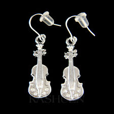 w Swarovski Crystal Double Bass Violin Fiddle Viola Cello Music Musical Earrings