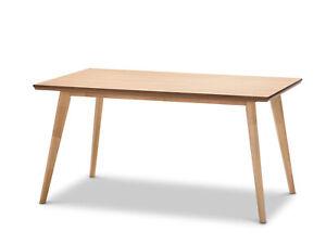 Scandinavian 1.5M 150cm Rectangular Dining Table Natural Oak Timber Light Wood