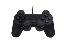 GP2 - USB 2.0 Wired Game Controller Gamepad Joypad for Laptop PC Computer Black
