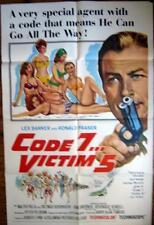 1965 CODE 7...VICTIM 5 ~ LEX BARKER~BIKINI GIRLS ~~MOVIE POSTER 1 SH OR