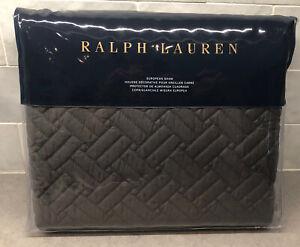 NEW Ralph Lauren Greenwich 300 Thread Count Sateen Euro Sham Metropolitan Gray