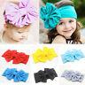 Cute Baby Girls Kids Toddler Stretch Turban Knot Head Wrap Bow Hairband Headband