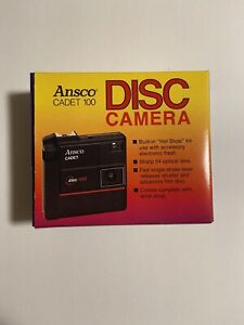 Vintage Ansco Cadet 100 Disc Camera Brand New With Box & Manual