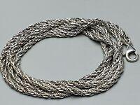 82,5 cm lange Vintage Silber-Kordelkette 835 Silber punziert 60er/70er Jahre A27