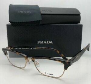 New PRADA Eyeglasses VPR 56R 2AU-1O1 53-16 140 Tortoise & Gold Titanium Frames