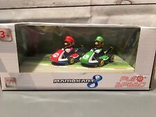 Nintendo Mario Kart 8 Pull & Speed Mario & Luigi, 2 pc Set, Scale 1:43 New