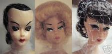 3 Doll Hair Nets for vinyl composite bisque porcelain vintage modern color safe
