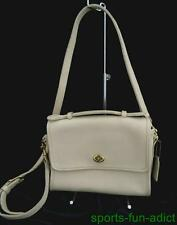 Vintage USA 1980's COACH Cream Leather Shoulder Bag Purse L7C-9870 Crossbody