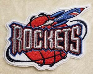"Houston Rockets Retro 3.75"" Iron On Embroidered Patch ~ USA ~ FREE Ship"