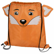 Fox - Childrens Animal Draw String Backpack Sport Pack Tote Bag