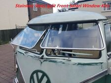 VW  SAFARI WINDOW KIT SPLITSCREEN FRONT STAINLESS STEEL TYPE 2 BUS KOMBI CAMPER