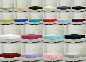 """Easy Care Soft Fitted BUNK Bed Sheet SMALL Single 2ft 6"""" (76cm x 190cm)"""