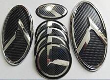 7pcs 3D Kia K5 OPTIMA Carbon Fiber Emblem Badge Grille Trunk Steering Wheel stic