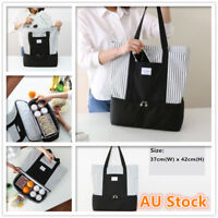 Dual Compartment Insulated Lunch Bag Cooler Picnic Box Tote Fashion Hand Bag New