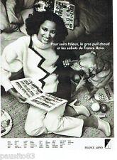 PUBLICITE ADVERTISING 036 1978  France Arno  pull & sabots