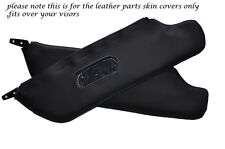 BLUE STITCH 2X SUN VISORS LEATHER COVERS FITS FIAT 124 SPIDER 1966-1977