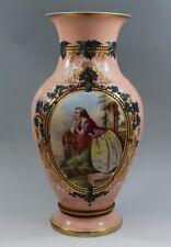 HUGE - Old Paris Porcelain Vase - Beautifully Hand Painted Lady