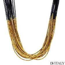 DV ITALY New Necklace With Simulated gems Made in Yellow Base metal .