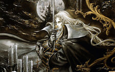 """Castlevania lords of shadow GAME Fabric poster 21"""" x 13"""" Decor 01"""