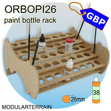 1x ORBOPI26 MODULAR STACKABLE PAINT BOTTLE RACK 38 VALLEJO ANDREA PAINTS