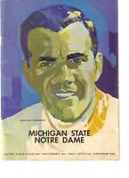 MICHIGAN STATE 1965 NATIONAL CHAMPIONS FOOTBALL PROGRAM