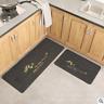 2Pcs Waterproof Kitchen Bathroom Carpet Non-Slip Floor Door Rug Mat