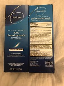 2 Daylogic 10% Benzoyl Peroxide Acne Foaming Wash 5.5oz - Compare To PanOxyl NEW