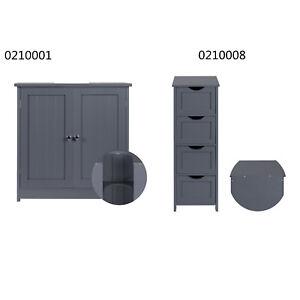 Badschrank Unterschrank Badkommode Standschrank Hochschrank Badezimmermöbel Grau