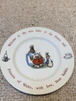 Wedgewood Peter Rabbit - Beatrix Potter - Birthday Plate & Box - Prince Of Wales