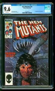 New Mutants 18 CGC 9.6 NM+ 1st Demon Bear Bill Sienkiewicz cover Marvel 1984