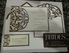Gartner Brides 120 Count Deluxe Invitation Kit, Ivory paper with Brown Scrolls!