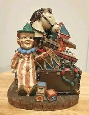 Clown Figurine With Horse & Toys Presents Decorative Collectible