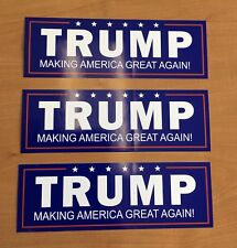 3 TRUMP MAGA Make America Great Again Bumper Sticker Stickers NOT from China