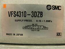 SMC vfs4310-3dzb dual coil flow valve, closed center position, 1/4 pipe thread.