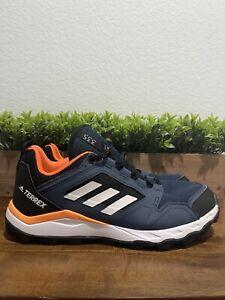 Adidas Terrex-Agravic Trail Running Shoes Navy/White/Blue FX6914 Men's Size 10