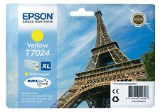Original Epson T7024 Eiffel Tower DuraBrite Ultra Yellow Ink Cartridge, T702440