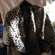 OCELOT PRINT Cape by Oasis - not lined - Animal Print - Size Large